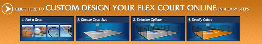 Build a custom backyard court online with FlexCourt today!