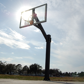 Outdoor photo of the Hercules Basketball System