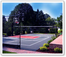 Half Size Backyard Court