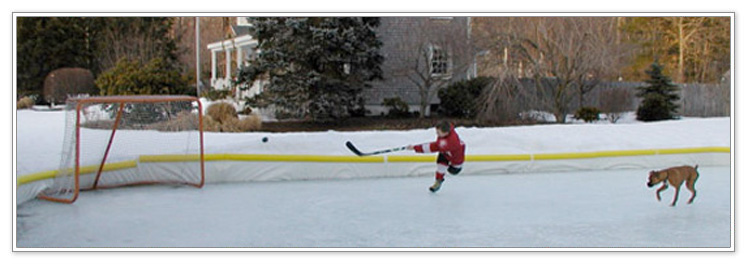 get a better ice rink surface with liners for your backyard rink